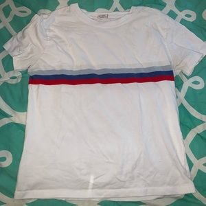 Brandy Melville Red White and Blue Jamie T-Shirt